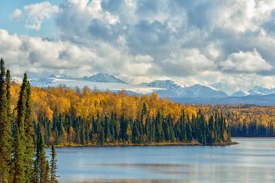 Fall in Alaska, Fish Lake, Talkeetna