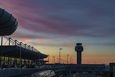 Sunset, Anchorage Airport with Denali