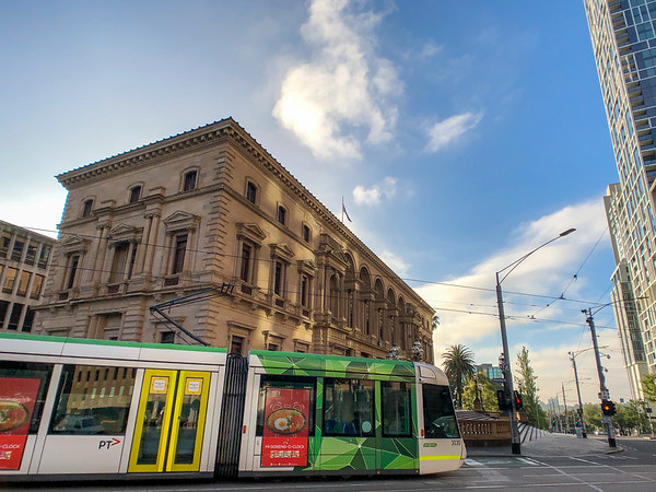Melbourne Tram and Old Treasury Building