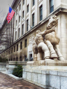 Federal Trade Commission: Man Controlling Trade statue