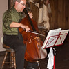 Stefan Koch playing a program of classical cello music at the Environmental Humanities Education Center (Rosie's Cantina) in Lakeview, MT. Aug 17, 2012.