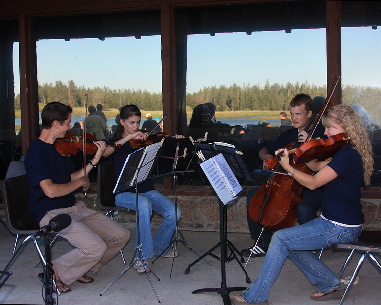 String Quartet at Mountains and Strings workshop and concert in Island Park, Idaho, Harriman State Park Ranch July 12, 2008.