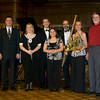 "Avenel Players with composer Michael Kibbe (far right) after premiering Michael's 6-movement program piece ""Wordless Haiku"". From left: Paul Wiesepape (Piano),Holly Patterson (Oboe),Sean Stackpoole, (flute), Lori Koch (Clarinet), Stephen Thiroux (Bassoon) and  Jennifer Adrian (Horn). Feb 1, 2009 at the Pasadena First United Methodist Church (California)"