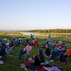 Beautiful setting for concert at Harriman State Park (Mountain and Strings) in Island Park, Idaho. Eric Grossman, violinist soloed. July 9, 2008.