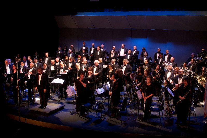Los Angeles Pierce Symphonic Winds in concert. Oct 2, 2011.