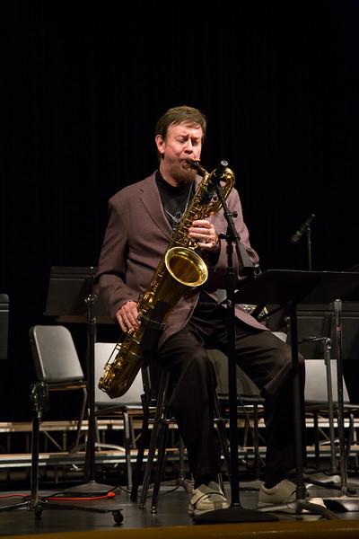 Steve Wilkerson at Arizona Western College Jazz performance