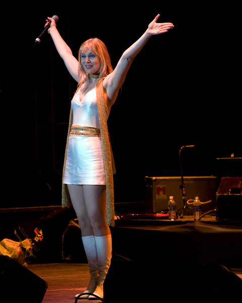 """Andrea Pressburger in the musical group ABBAMania, performing at the FMCA Conference in Pomona, CA, Feb 26, 2008. <a href=""""http://www.andreapressburger.com/"""">http://www.andreapressburger.com/</a>"""
