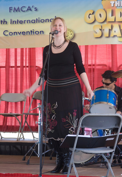 Katie Harris, Jazz Singer, at the Pomona FMCA's International Convention on Feb 26, 2008.