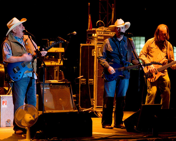"""The Bellamy Brothers (Howard and David) country music group plays at the Fairplex in Pomona for the 2008 FMCA Motorhome Conference, Feb 28, 2008.  The Bellamy Brothers first hit was """"Let Your Love Flow""""."""