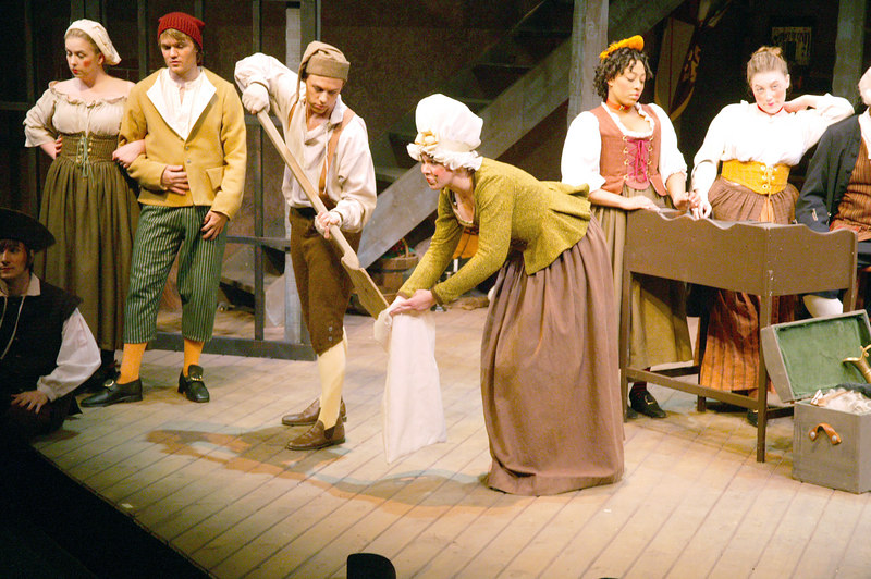 ASU's Beggar's Opera Cast 2004, Genevieve Perdue as the Maid here.