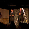 "A scene from ""Less Miserables"" at the Mack's Inn Playhouse in Island Park, Idaho in August 2009.  The entire cast of the play on stage (from left to right), Kacey Bronson, ""DRU"", Drew Durrant, Stephen Michael Michaud, Kylie Peterson,"