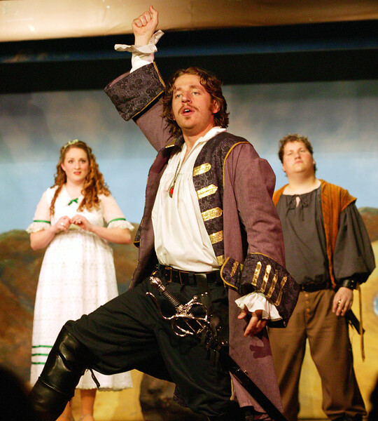 "King of the Pirates in the Mack's Inn Theatre (Idaho) production of ""The Pirates of Penzance"", June 2006."