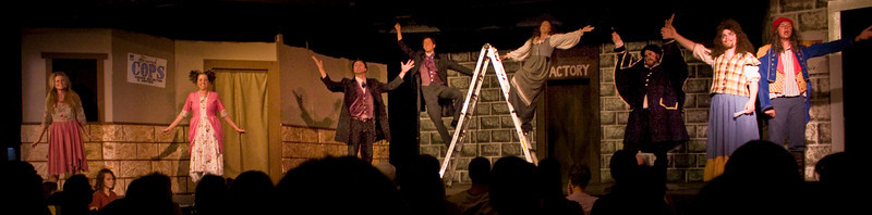 """The entire cast of   """"Less Miserables"""" at the Mack's Inn Playhouse in Island Park, Idaho in August 2009."""