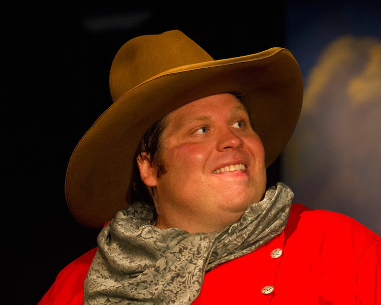 "Christian Busath in Mack's Inn Playhouse production of ""Cowpokes and Petticoats""."