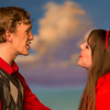 "Hugh Butterfield and Miriam Blaser in ""Lucky Stiff"" musical."