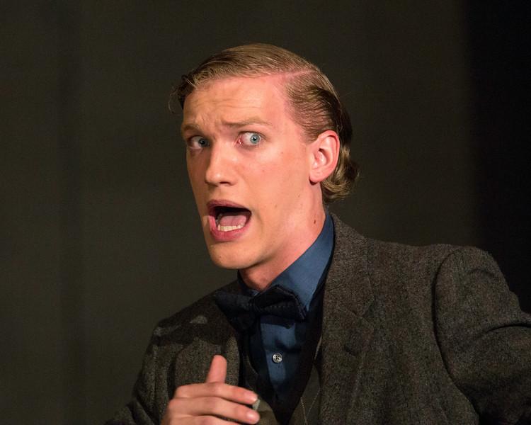 """Hugh Butterfield in """"Lucky Stiff"""" musical."""