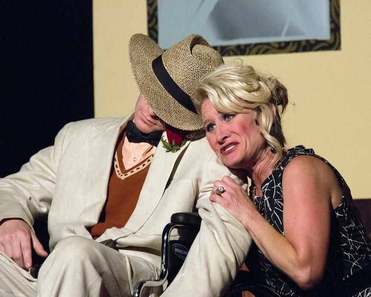 "Jenny Porter and Ryan Hoppman in ""Lucky Stiff"" musical."