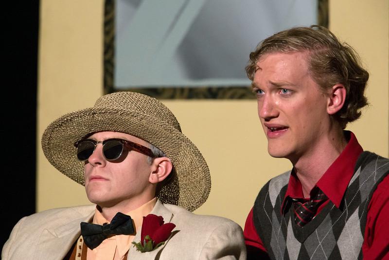 """Ryan Hoppman and Hugh Butterfield in """"Lucky Stiff"""" musical."""