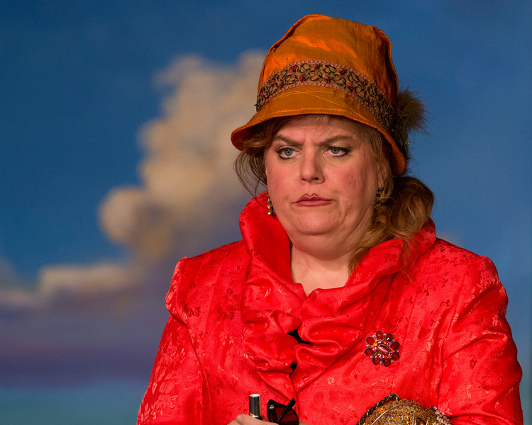"Lisa Burton-Carter in ""Lucky Stiff"" musical."
