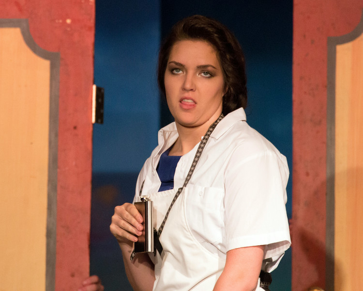 "Amy Heimbigner in ""Lucky Stiff"" musical"