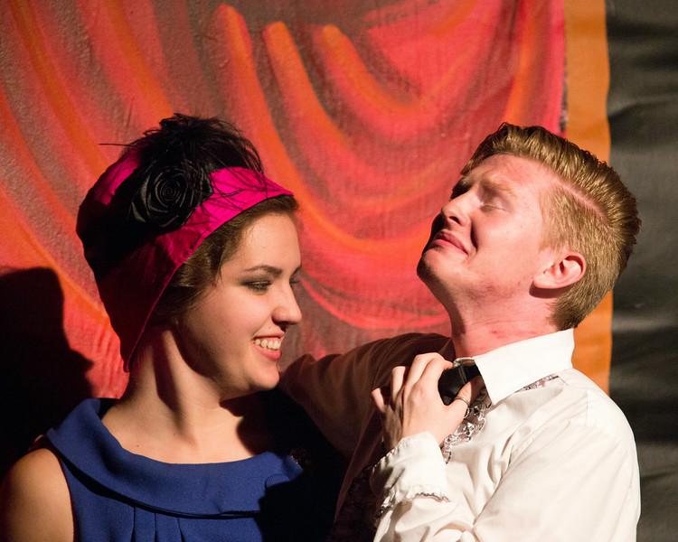 """Amy Heimbigner and Davis Underwood in """"Lucky Stiff"""" Musical"""