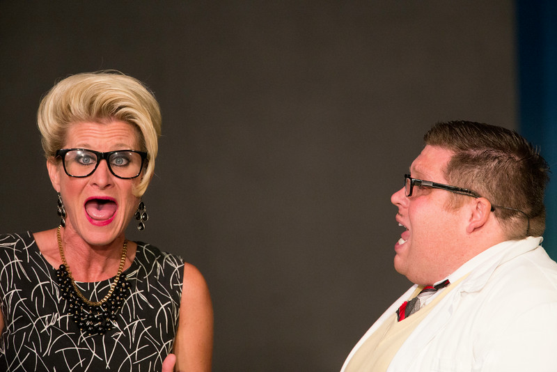 """Jenny Porter and Christian Busath in """"Lucky Stiff"""" musical."""