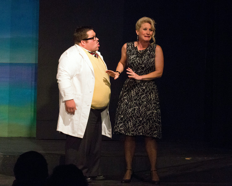 """Christian Busath and Jenny Porter in """"Lucky Stiff"""" musical."""