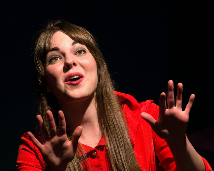 """Miriam Blaser in """"Lucky Stiff"""" musical."""