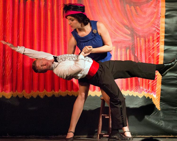 """Davis Underwood and Amy Heimbigner  in """"Lucky Stiff"""" Musical"""