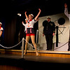 """Cast of """"Dames at Sea"""" performed by the Pinecone Playhouse, July 18, 2012. From left, Emily Volf, as Joan, Jacob Cullum as Dick, Emily Quinn Monrad as Ruby, Bryon Finch as Hennesy, Hugh Butterfield as Lucky and Lisa Burton Carter as Mona Kent."""