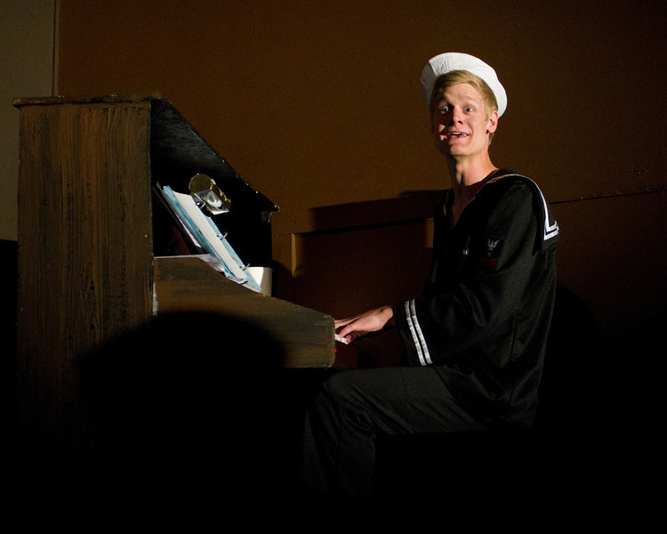 """Jacob Aaron Cullum as Dick, an aspiring songwriter in the Pinecone  Playhouse production of """"Dames at Sea"""", July 18, 2012 in West Yellowstone, MT."""