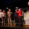 """From left, Hugh Butterfield as Lucky, Emily Volf as Joan, Emily Quinn Monrad as Ruby, Bryon Finch as the boyfriend captain, Lisa Burton Carter as Mona Kent and Jacob Aaron Cullum as Dick in the Pinecone  Playhouse production of """"Dames at Sea"""", July 18, 2012 in West Yellowstone, MT."""