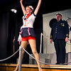 """Emily Quinn Monrad as Ruby and Bryon Finch as """"the captain"""" in the Pinecone  Playhouse production of """"Dames at Sea"""", July 18, 2012 in West Yellowstone, MT."""