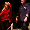 """Lisa Burton Carter as Mona Kent and Bryon Finch as the rich """"captain"""" in the Pinecone  Playhouse production of """"Dames at Sea"""", July 18, 2012 in West Yellowstone, MT."""