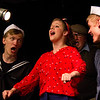 """Hugh Butterfield as Lucky, Emily Volf as Joan, Bryon Finch as Hennesy, and Jacob Aaron Cullum as Dick in the Pinecone Playhouse production of """"Dames at Sea"""", July 18, 2012. West Yellowstone, MT."""