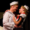 """Jacob Aaron Cullum as Dick and Emily Quinn Monrad as Ruby decide to get married in the Pinecone  Playhouse production of """"Dames at Sea"""", July 18, 2012 in West Yellowstone, MT."""