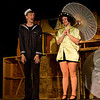 """Hugh Butterfield as Lucky, and Emily Volf as Joan in the Pinecone  Playhouse production of """"Dames at Sea"""", July 18, 2012 in West Yellowstone, MT."""