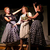 """Emily Quinn Monrad as Ruby, Lisa Burton Carter as Mona Kent and Emily Volf as Joan in the Pinecone  Playhouse production of """"Dames at Sea"""", July 18, 2012 in West Yellowstone, MT."""