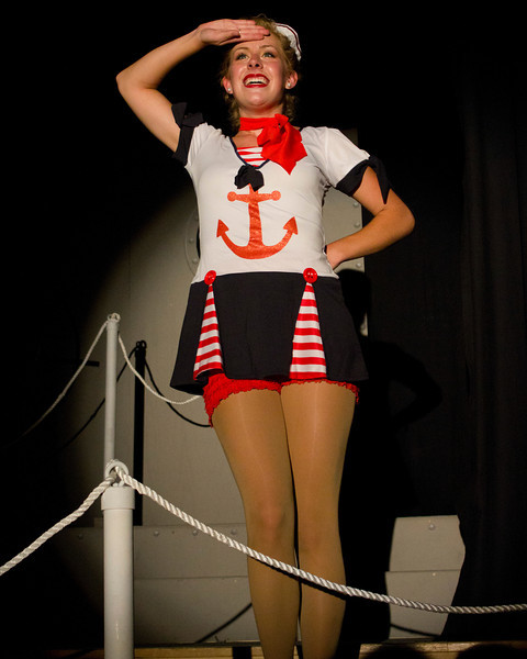 Sailorette Ruby, played by Emily Monrad. Pinecone Playhouse, July 18, 2012.