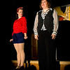 """Emily Volf as Joan and ELisa Burton Carter as Mona Kent in the Pinecone  Playhouse production of """"Dames at Sea"""", July 18, 2012 in West Yellowstone, MT."""