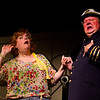 """Lisa Burton Carter as Mona Kent and Bryon Finch as """"the captain"""" in the Pinecone  Playhouse production of """"Dames at Sea"""", July 18, 2012 in West Yellowstone, MT."""