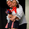 """Hugh Butterfield as Lucky and Emily Volf as Joan in the Pinecone  Playhouse production of """"Dames at Sea"""", July 18, 2012 in West Yellowstone, MT."""