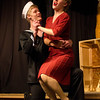 """Jacob Cullum as Dick and Emily Quinn Monrad as Ruby in the Pinecone  Playhouse production of """"Dames at Sea"""", July 18, 2012 in West Yellowstone, MT."""