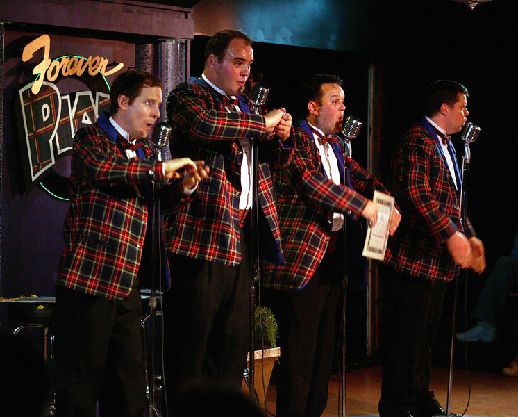 Playmill Theatre, West Yellowstone, MT. 2006 Season. Forever Plaid quartet.