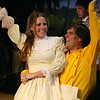 "Catherine Palmer as Dorcas and Cameron Boyle as Benjamin in ""Seven Brides for Seven Brothers"" performed in the Summer 2006 season at the Playmill Theatre in West Yellowstone, MT."