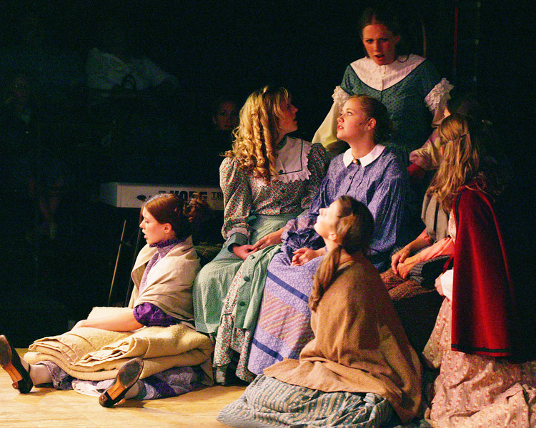 "The Brides in ""Seven Brides for Seven Brothers"" performed in the Summer 2006 season at the Playmill Theatre in West Yellowstone, MT."