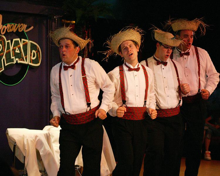 Playmill Theatre, West Yellowstone, MT. 2006 Season. Forever Plaid quartet.
