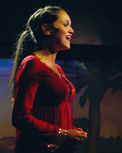 Rachel Lynn Woodward as the Narrator from the Cast of Joseph and the Amazing Technicolor Dreamcoat at the Playmill Theatre, West Yellowstone, MT August 2006