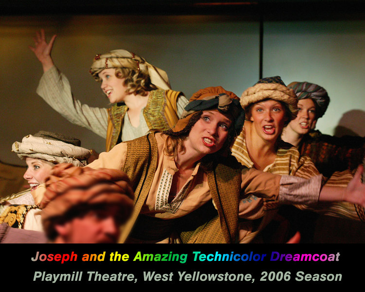 Cast of Joseph and the Amazing Technicolor Dreamcoat at the Playmill Theatre, West Yellowstone, MT August 2006