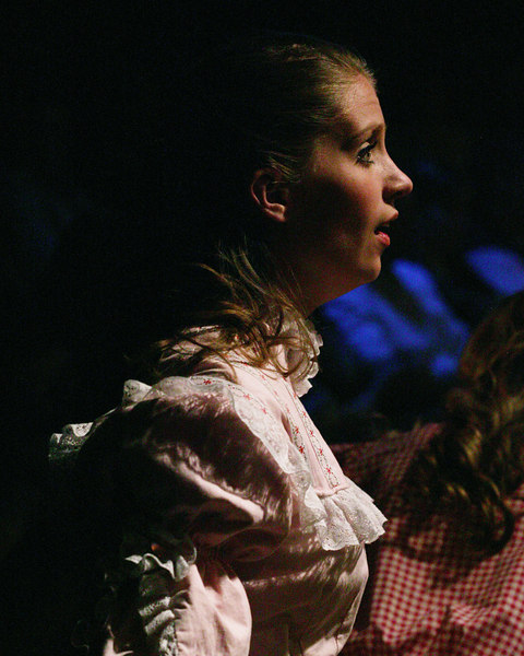 "Kristi Lyn Bates as Ruth singing in ""Seven Brides for Seven Brothers"" performed in the Summer 2006 season at the Playmill Theatre in West Yellowstone, MT."